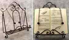 FRENCH COUNTRY Wrought Iron BOOK HOLDER COOKBOOK EASEL STAND ~ Scroll Design ~