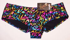 Kayser Sexy Ladies Rainbow Cheetah Printed Hotpants Brief Size 10 New