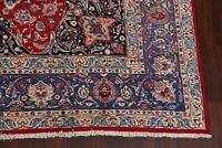 Excellent Traditional Floral RED/BLUE Kashmar  Area Rug Hand-Knotted Wool 10x12