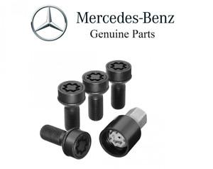 For Mercedes Benz C117 X117 X156 CLA GLA Class Black Wheel Locks Set Genuine