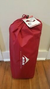 MSR  ELIXIR 3  Backpacking Tent w/Footprint in Gray/Red - New