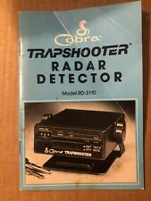 Used Manual Only for Cobra Trapshooter Radar Detector Model Rd-3110