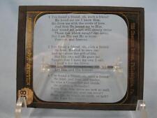 Magic Lantern Glass Slide Ive Found A Friend Oh Such A Friend Hymn Lyrics (O)