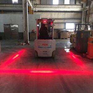 3 LED Forklift Truck RED Line Warning Lamp Safety Working Light 10-80V