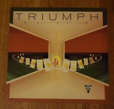 "Triumph ""The Sport of Kings"" 2-Sided Record Promo Album Flat Art Poster Rare"