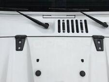 Pair Black Door Hinge Trim Protector Cover For Jeep Wrangler JK 4 Door 07-17