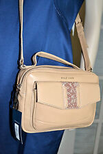 NWT $248 COLE HAAN Savannah Camera Bag Crossbody  Camel Leather Snakeskin