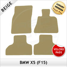 BMW X5 F15 2013 onwards Velcro Pads Tailored LUX 1300g Carpet Floor Mats BEIGE