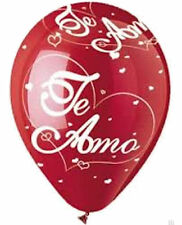 "10 pc 12"" Te Amo Red Latex Balloons Party Decoration Quiero Love You Valentine's"