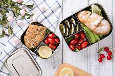 1000ml Vesperbox Edelstahl Proviantdose Lunchbox Brotdose mit 3 Fächern NEU