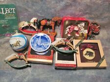 9 Ornaments, Hallmark Rocking Horses & Anniv Pin, Horse Of A Different Color