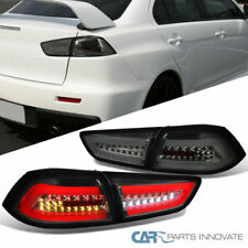 Fit Mitsubishi 08-17 Lancer 08-15 EVO X Smoke LED Tail Brake Lights Signal Lamps
