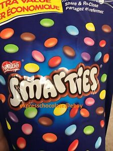 NESTLE SMARTIES CHOCOLATE GIANT PANTRY SIZE 1kg/2.2lb BAG - FROM CANADA