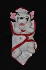 Peluche doudou chien 101 dalmatiens DISNEY NICOTOY couverture blanc 25 cm TTBE