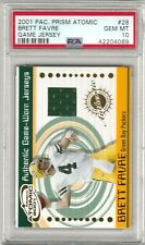 Brett Favre 2001 Pacific Prizm Atomic Jersey Patch PSA 10 GEM *POP 1* PACKERS