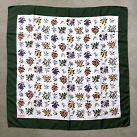 """Vintage GUCCI Silk Scarf with """"Botanical"""" Theme"""