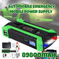 600A 4USB 89800mAh Car Jump Starter Pack Booster Charger Battery Power Bank LED
