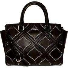 MICHAEL Michael Kors Women's Black Selma Medium Diamond-grommet Messenger Bag