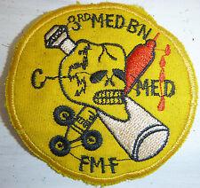 Patch - US AIR MEDIC - 3rd MEDICAL - Fleet Marine Force - Vietnam War - 9172