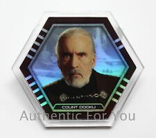 NEW Star Wars Topps Galactic Connexions Trading Disc COUNT DOOKU Rare Clear FOIL