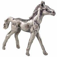 Miniature Walking Foal Horse Colt Pewter Figurine Mini Metal Sculpture Vintage