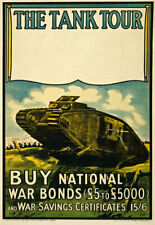 More details for wa18 vintage wwi national war bonds tank tour scottish war poster ww1 a1 a2 a3