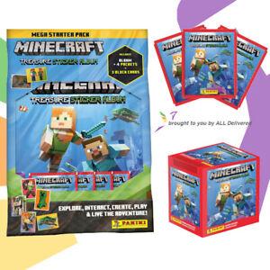 Panini Minecraft Treasure Sticker Book Album Starter Pack Stickers Multi Packs