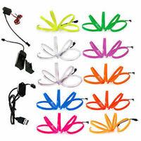 1M/2m/3m/4m/5m LED Flash Flexible Neon Light Glow EL Tube Wire Strip Party Decor