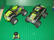 Lego lot of 2 60055 monster truck hot rod trucks & minifigs racing trucks READ
