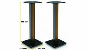 Universal BookShelf Speaker Stand in Timber (sold in pairs - 2x units)