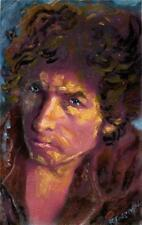BOB DYLAN  ACRYLIC ON WATER COLOR PAPER 6 1/4  X 10 1/4