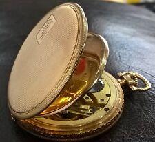 14K SOLID GOLD - IWC International Watch Company - GENTS Pocket Watch - ART DECO