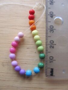 400 opaque smooth round plastic acrylic beads 4mm solid colour choice of colour