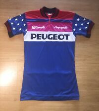 Peugeot Campagnolo G. Bianchi Vinatge Italian Cycling Shirt Jersey Large