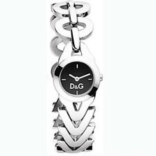 Dolce and Gabbana Women's CACTUS DW0547 Silver Stainless Steel Black  Dial Watch