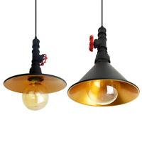 Vintage Steampunk Water pipe Lighting Industrial Rustic Ceiling Pendant Light