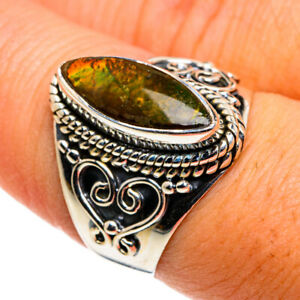 Ammolite 925 Sterling Silver Ring Size 8.25 Ana Co Jewelry R79778F