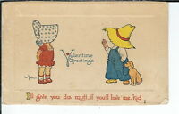 AX-178 - Valentine Greetings, Artist Signed Benjen 1907-1915 Golden Age Postcard