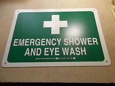 NEW Brady 29081 Emergency Eye Wash and Shower Station Safety Sign