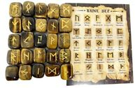 Tiger Eye Rune Sets Elder Futhrak Set comes with black Pouch and rune card