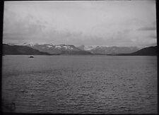 Glass Magic Lantern Slide NORWEGIAN LOCATION NO20 C1930 PHOTO NORWAY FJORD