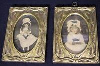 Pair Vintage Tinted Prints in Carved Giltwood Frames, Circa 1940