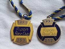 Ripon 1991 Pair (Horse Racing Members Badges)