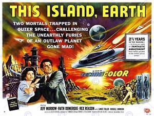MOVIE FILM THIS ISLAND EARTH SCI FI ALIEN PLANET ART PRINT POSTERBB6732B