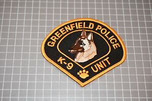 Greenfield Police K-9 Unit Patch (S03-1)