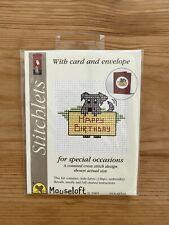 Stitchlets Cross Stitch Birthday Card Kit - Dog Theme BN