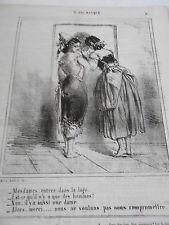 Caricature 1863 Bal Masqué mesdames entrez dans la loge