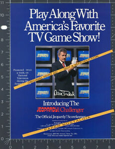 JEOPARDY! Challenger Scorekeeper__Orig. 1989 Trade Print AD/ ADVERT__Alex Trebek
