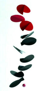 FLENSTED MOBILE Turning Leaves Red Black Fall Modern Contemporary hanging art
