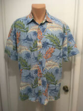 Mens REEL LEGENDS  Performance Clothing Hawaiian Shirt  Rayon Cotton L Fishing